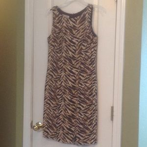 Silk Lined Classic Animal Print Dress